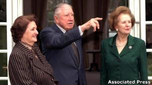 Augusto Pinochet y Margaret Thatcher