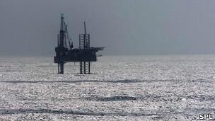Plataforma petrolera en el Golfo de México
