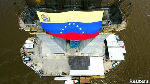 Obras no Orinoco (Foto Reuters)