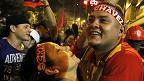 Chavistas festejando