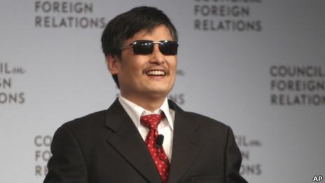 陳光誠在紐約(31/05/2012,資料照片)