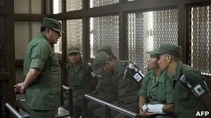 El coronel Juan Chiroy Sal y cinco de los soldados