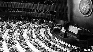 Asamblea de la ONU en octubre de 1962