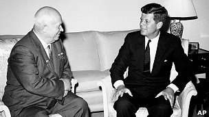 Nikita Krushev y John Fiztgerald Kennedy