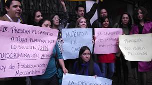 Protestas afuera de El Mirador