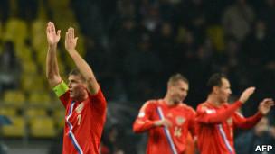 فرحة لاعبي روسيا