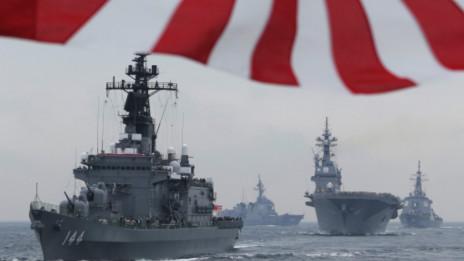 Các chiến hạm Nhật Bản trong buổi duyệt hạm năm 2012
