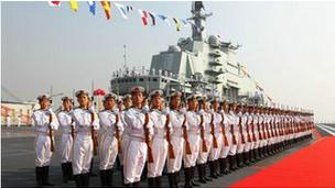 Lễ ra mắt tàu sân bay Liêu Ninh của Trung Quốc