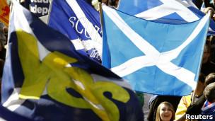 Marcha por la independencia de Escocia