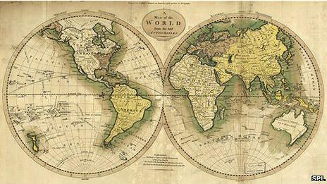 Mapa del mundo de 1795