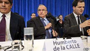 Los negociadores gubernamentales en el proceso de paz de La Habana