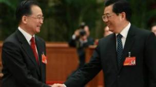 中國國家主席胡錦濤和總理溫家寶