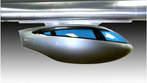 Modelo do trem aéreo que será implementado em Tel Aviv (Foto: Divulgação)