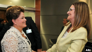Dilma Rousseff com a presidente da Petrobras, Maria das Graças Foster