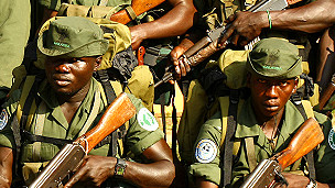 Guardas del Parque Nacional Garamba