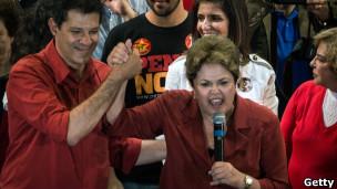 Fernando Haddad e Dilma Roussef (foto: Getty Images)