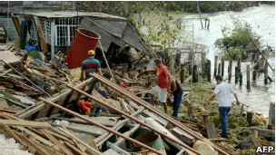 """Разрушения на Кубе, причиненные ураганом """"Сэнди"""""""