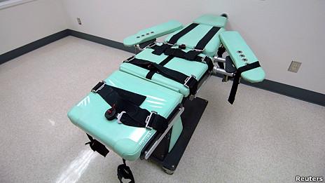 Ảnh cơ sở tử hình bằng tiêm thuốc tại nhà tù San Quentin do chính quyền California cung cấp hôm 25/102012