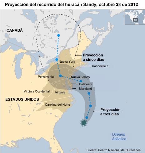 mapa de Sandy
