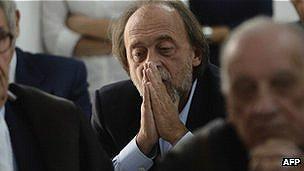 Uno de los condenados Bernando De Bernardinis, exjefe del Protección Civil