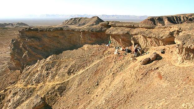 Sitio en el noreste de China, en la provincia de Xinjiang, donde fueron hallados los fósiles