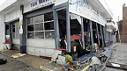 A shop destroyed by Sandy