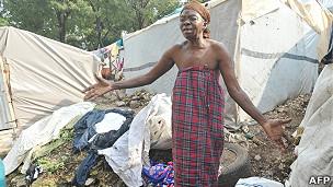 Mujer haitiana en Puerto Príncipe