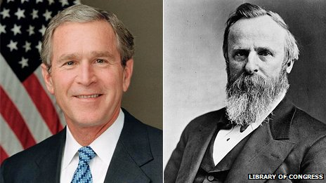 George Bush e Rutherford B. Hayes