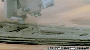 Impresora con cemento