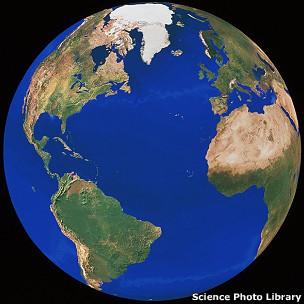 Mapa del mundo por satélite