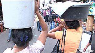 Mujeres en mercado