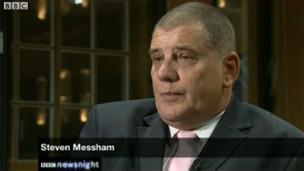 Steve Messham trên chương trình Newsnight
