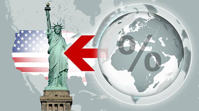 Gráfico sobre la llegada de población a EE.UU.