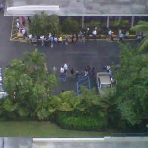 Centro de votación en Miami.