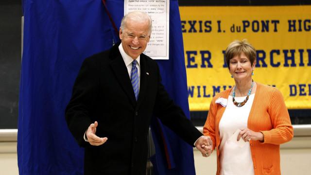 Joe Biden después de votar