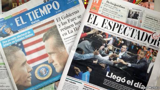 Medios colombianos sobre las elecciones en EEUU