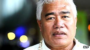 Foua Toloa, representante de Tokelau