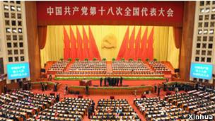中共十八大在京召开(08/11/2012)