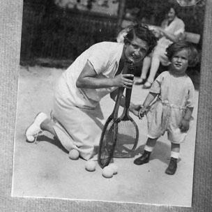 Edgar Feuchtwanger e sua mãe (Foto: Arquivo Pessoal)