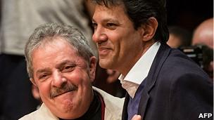 Fernando Haddad y Lula