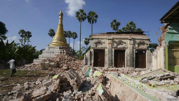 बर्मा में भूकंप से 12 लोगों की मौत की आशंका