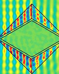 Patrón de diamante utilizado en la nueva estructura Imagen: Nature Materials