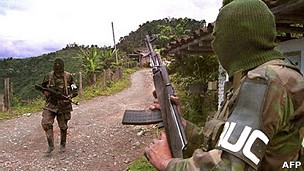 Paramilitares de las AUC (Foto de archivo)
