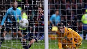 Partido del Barcelona contra el Celtic de Glasgow
