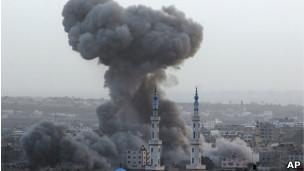 Explosão em Gaza neste sábado