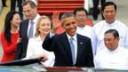 Presiden Barack Obama di Rangoon, Burma.