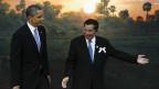 Presiden Barack Obama dan Perdana Menteri Kamboja, Hun Sen.