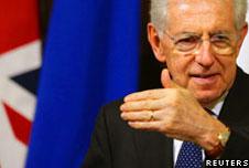 Italian Prime Minsiter Mario Monti