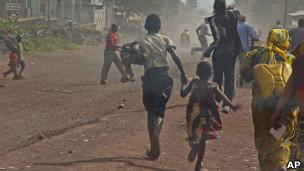 Watu wakikimbia mapigano Goma