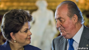 Dilma Rousseff e Juan Carlos / Reuters